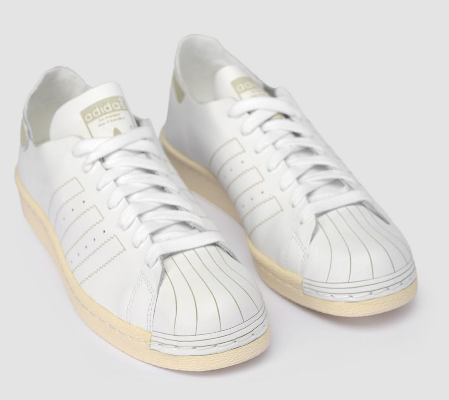 finest selection 5528a 606b3 The adidas Superstar 80s Decon In Vintage White ...