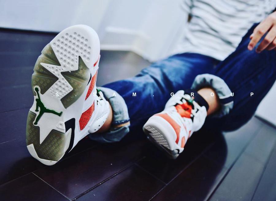 detailed look a6791 d9378 On-Feet Look At The Air Jordan 6 Gatorade • KicksOnFire.com