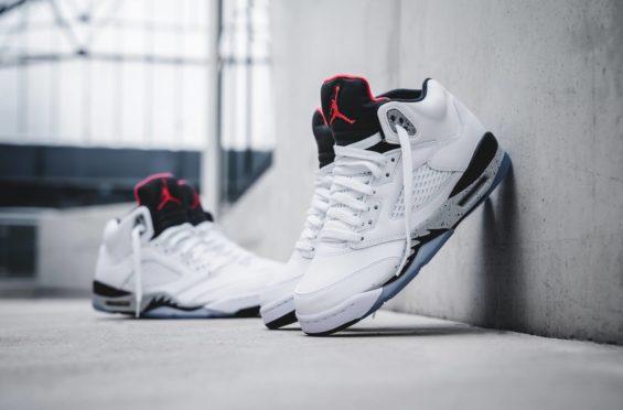 Air Jordan 5 White Cement Releasing