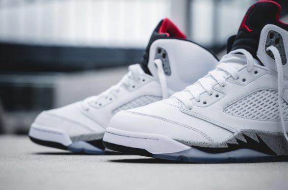 save off a9328 2e713 Air Jordan 5 White Cement • KicksOnFire.com