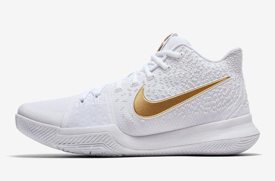 Nike Kyrie 3 In White \u0026 Gold