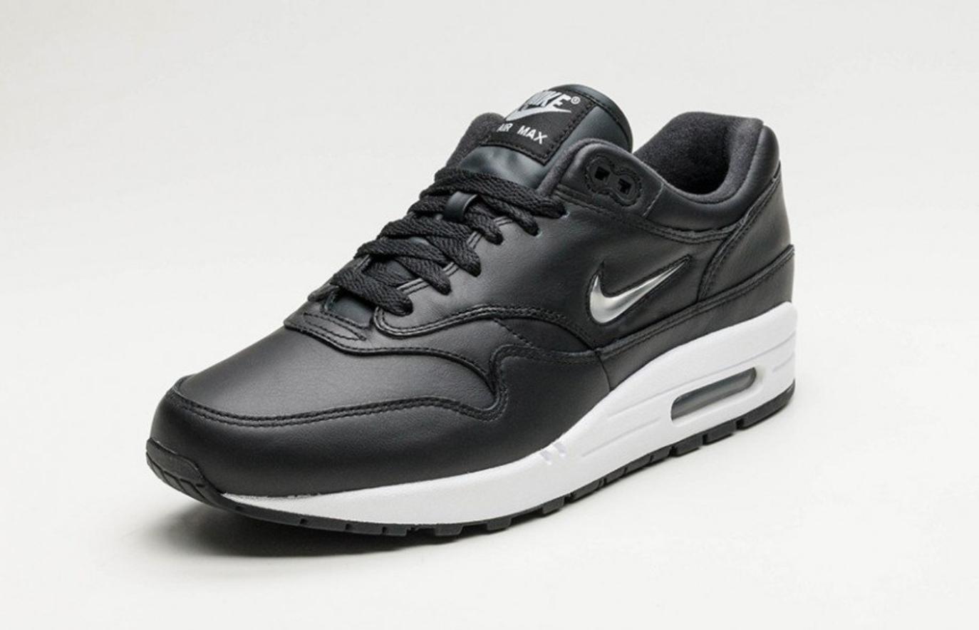 Black & Metallic Silver Cover The Next Nike Air Max 1