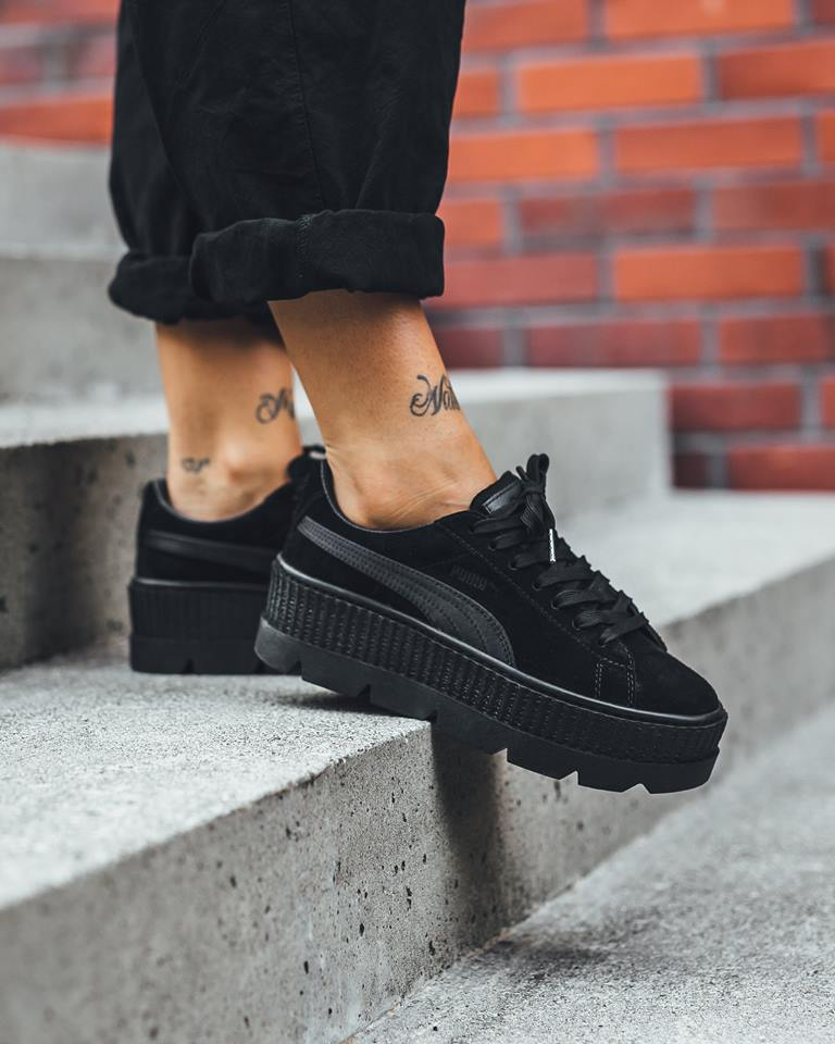 reputable site 27093 4896b Look For The Rihanna x Puma Fenty Suede Cleated Creeper ...