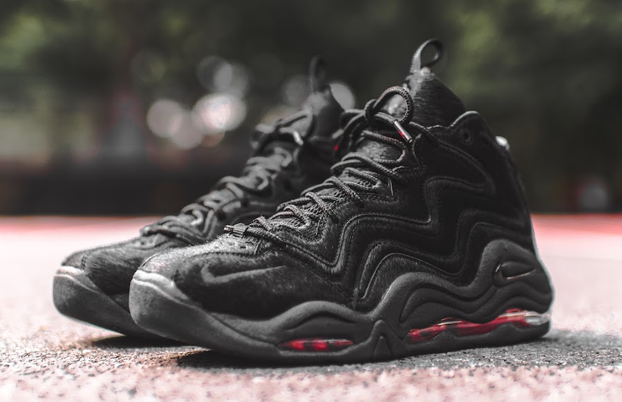 Nike Air Pippen Detailed Look At The Kith x Nike Air Pippen 1 Black Pony ...