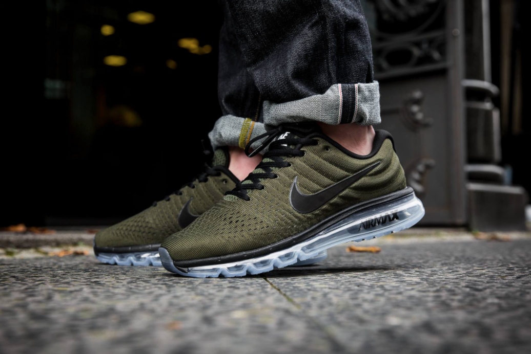 los angeles 72d96 88e90 The Nike Air Max 2017 is getting ready for fall with its new cargo khaki  color scheme. The runner features a one-piece ventilated Flymesh upper with  a ...