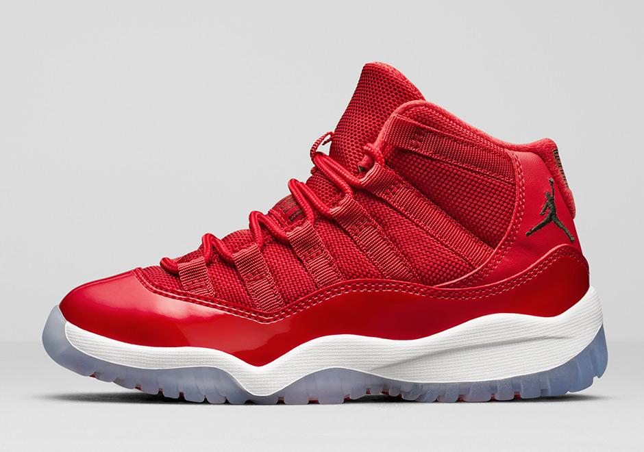 buy online db32b 0bb97 Joining the Air Jordan 11 Win Like  82 as a part of Jordan Brand s 2017  Holiday Collection is the all-red Air Jordan 11 Win Like  96.