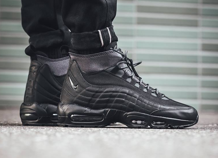promo code eddef 20f36 The colder months are nearing and the Nike Air Max 95 Sneakerboot will be  coming in a triple black theme to perfectly suit the season.
