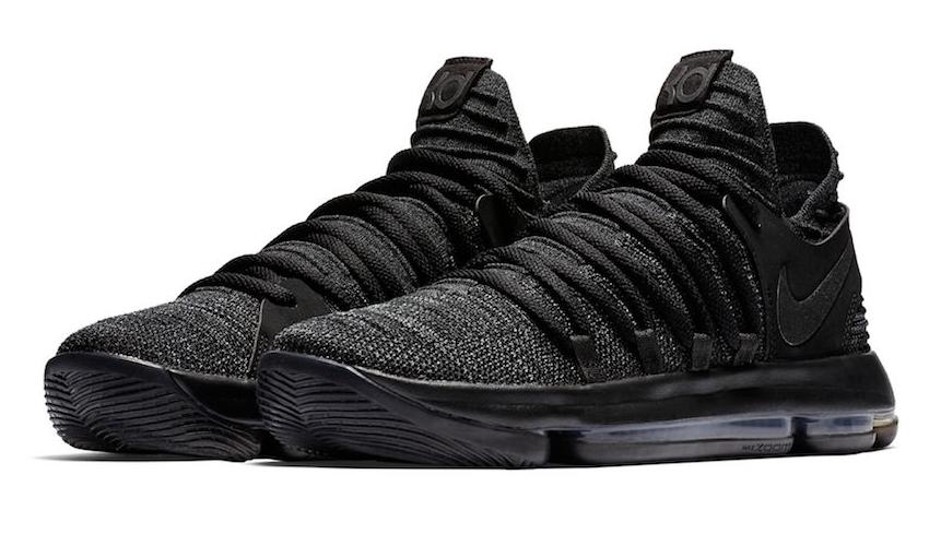 Release Date: Nike KD 10 Triple Black