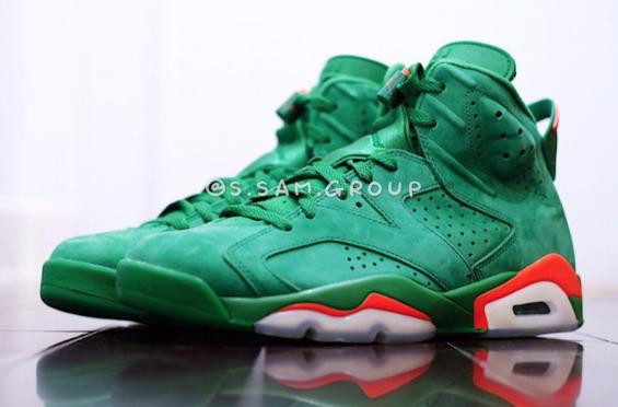 free shipping 4eaa1 d03bd Air Jordan 6 Gatorade Green • KicksOnFire.com