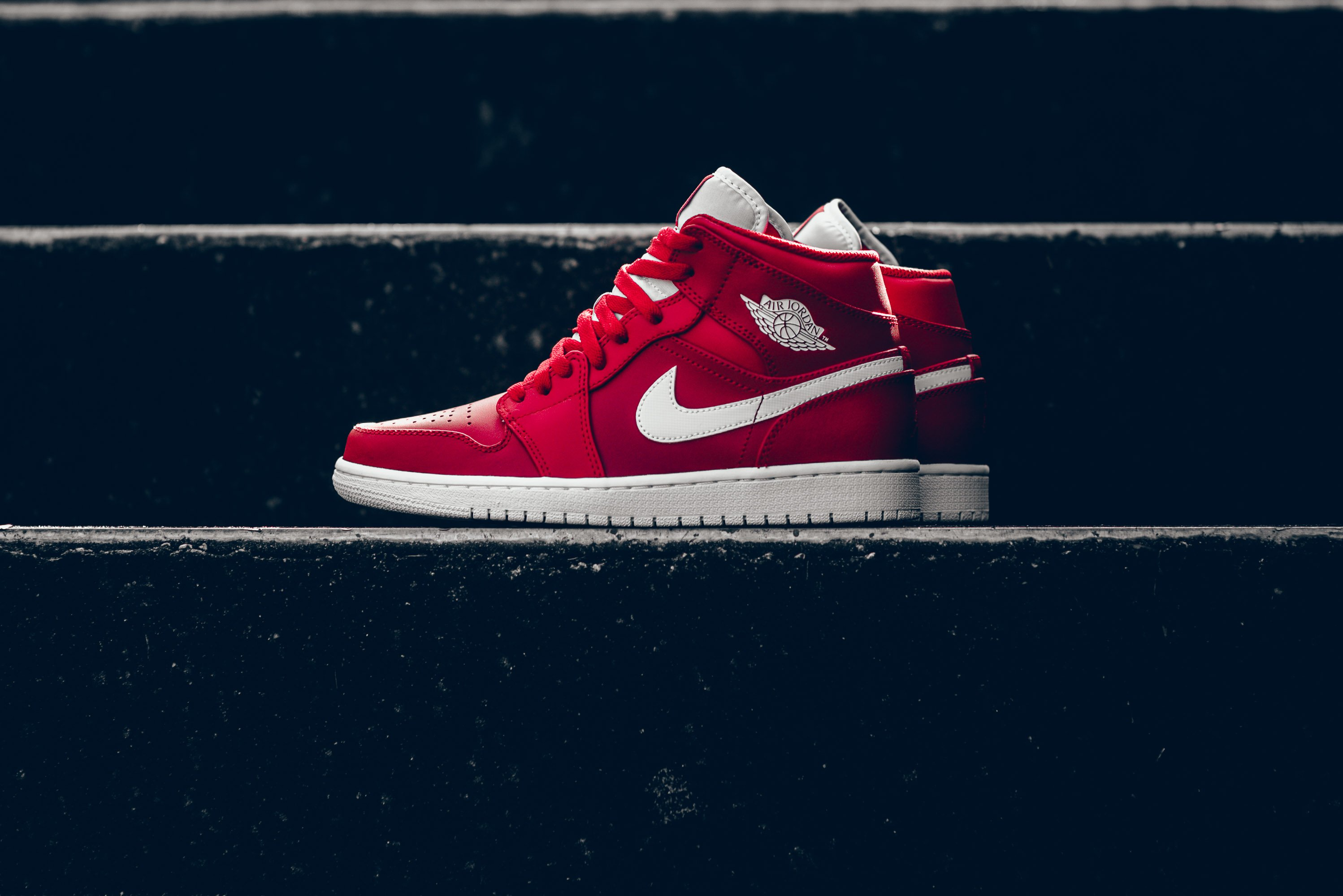 new product 87d4b f5069 Check Out This Air Jordan 1 Mid In Gym Red • KicksOnFire.com