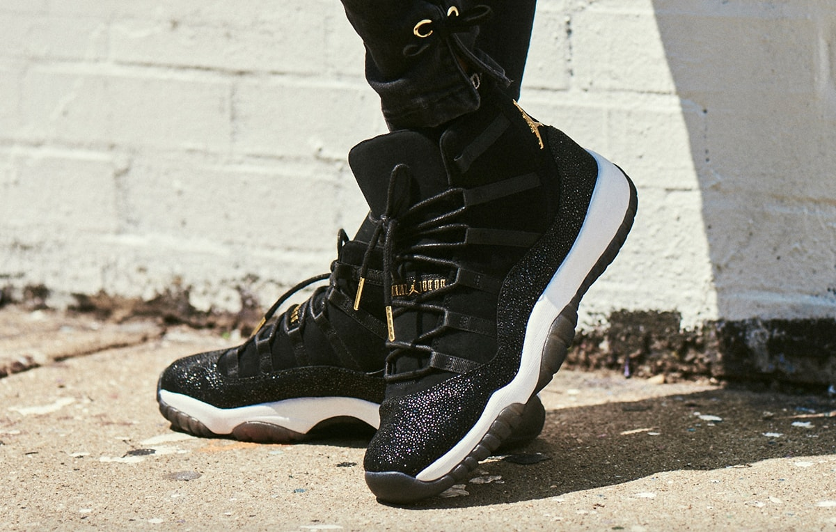 casual shoes new arrive purchase cheap Air Jordan 11 PRM Heiress Black Stingray Releasing On Black ...