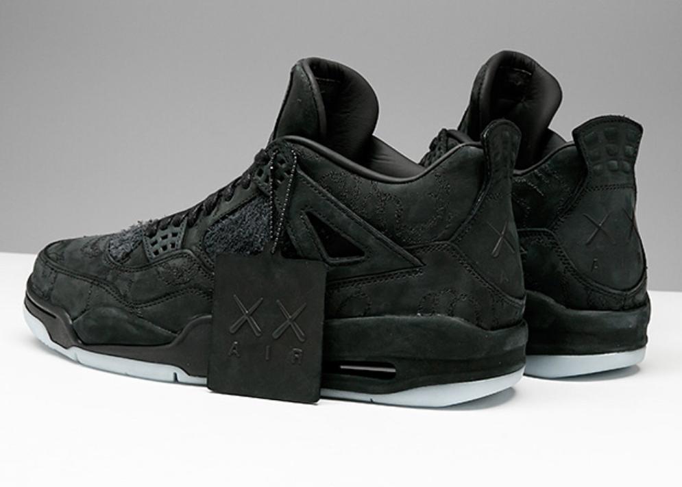 online store 07ea1 86c1a KAWS x Air Jordan 4 Black • KicksOnFire.com