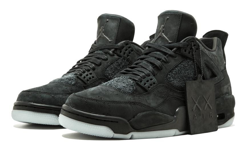 online store 0d5ed c86a9 KAWS x Air Jordan 4 Black • KicksOnFire.com