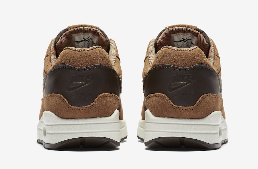 Brown Leather And Suede Cover This Premium Nike Air Max 1