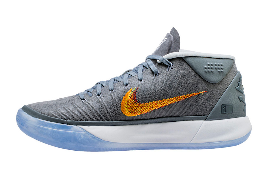 the latest 0cea0 2d604 The next colorway of the Nike Kobe A.D. Mid, Kobe Bryant s post retirement  sneaker, is in a grey snake iteration to replicate his mamba mentality.