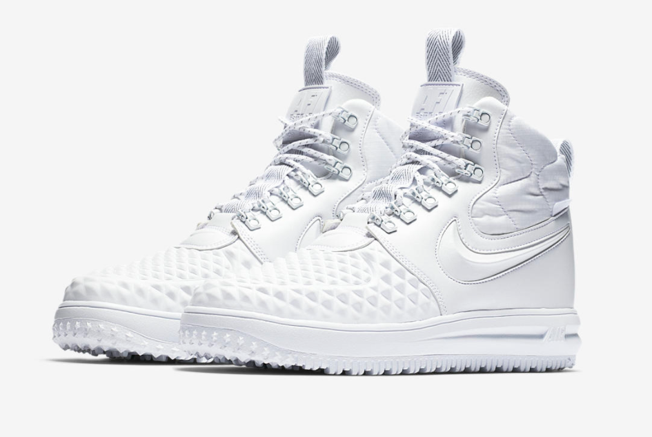the latest 0fa45 8f225 The Nike Lunar Force 1 Duckboot is a perfect style to rock this winter and  it s coming in a crisp winter white finish to go with the season.