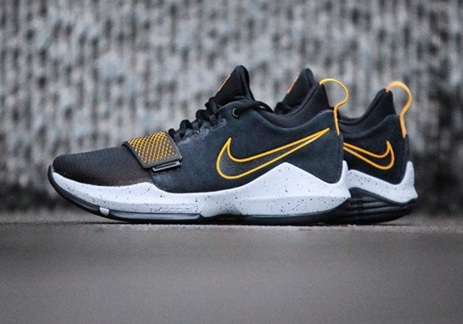 black and yellow Kevin Durant shoes