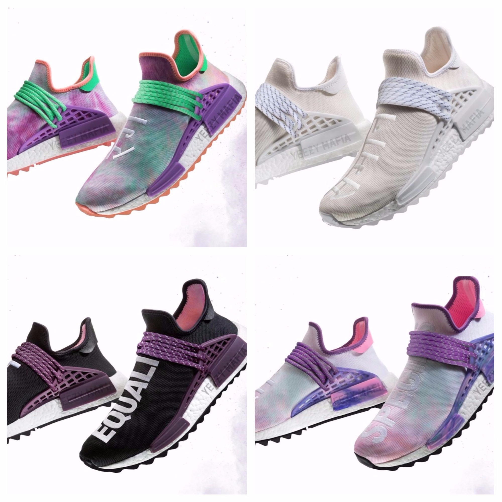 huge discount 7d141 72606 Pharrell x adidas NMD Hu Trail Blank Canvas & Holi 2018 ...