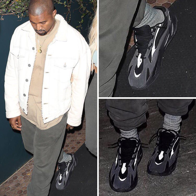 the latest 09301 3f097 Another New adidas Yeezy Wave Runner 700 Spotted On Kanye ...