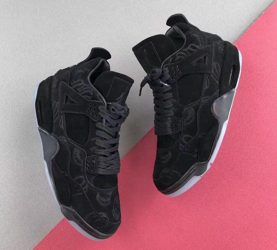 online store e2bb6 e23ce KAWS x Air Jordan 4 Black • KicksOnFire.com
