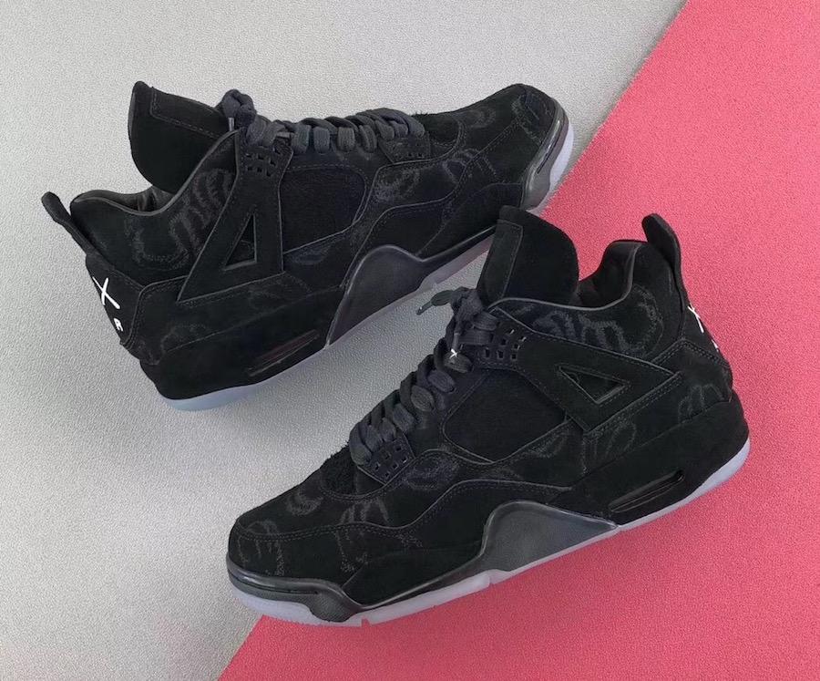 online store b4545 217e3 KAWS x Air Jordan 4 Black • KicksOnFire.com