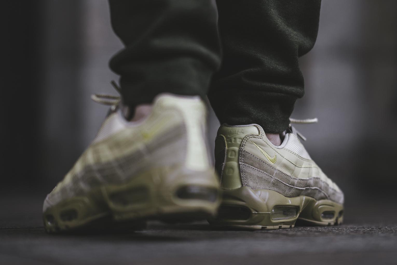Here's An On Feet Look At The Nike Air Max 95 Premium Khaki