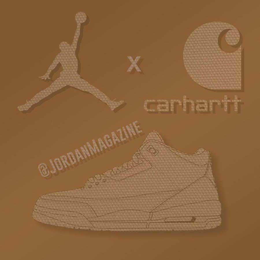 pretty nice 4b245 43ffa Carhartt x Air Jordan 3 Might Be Dropping In 2018 ...