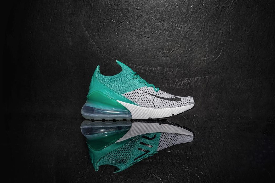 new concept bf94c 90426 A First Look At The Nike Air Max 270 In Teal And Grey ...