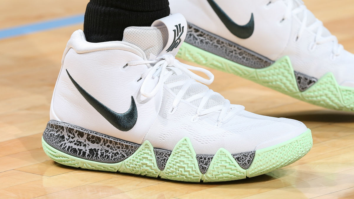 temperament shoes factory authentic for whole family Kyrie Irving Wears Two Unreleased Nike Kyrie 4 Colorways ...