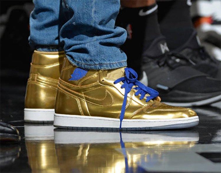 Kawhi Leonard Shows Out In An All Gold Air Jordan 1 Kicksonfire Com