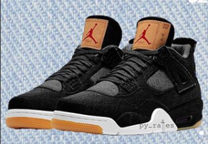 best loved 78121 56f25 The Levi's x Air Jordan 4 Denim In Both Black And White Will ...