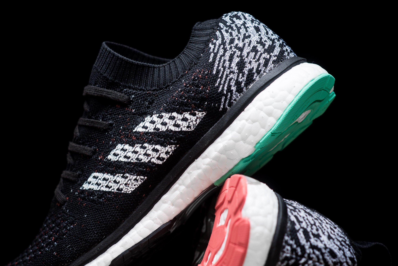 Pink & Green Accents Land On The adidas Adizero Primeknit