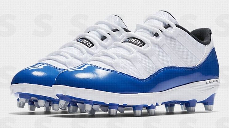 reputable site 96e4a e1aa8 After debuting the Concord-inspired Air Jordan 11 Football Cleat during  this past season s NFL playoffs, there will now be low top version of the  modified ...