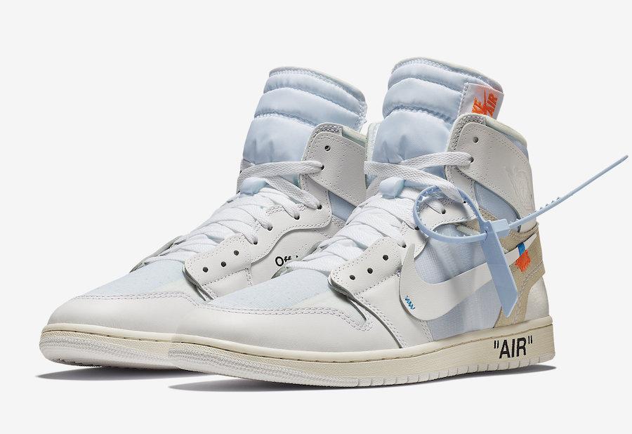 various colors 865ed 5d661 OFF-WHITE x Air Jordan 1 White • KicksOnFire.com