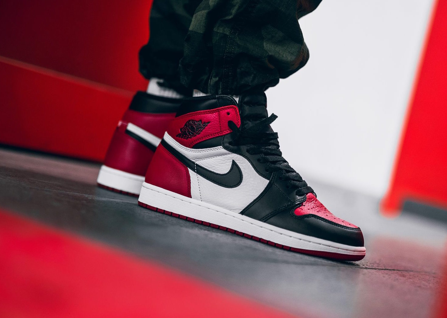 Air Jordan 1 Retro High OG Bred Toe • KicksOnFire.com