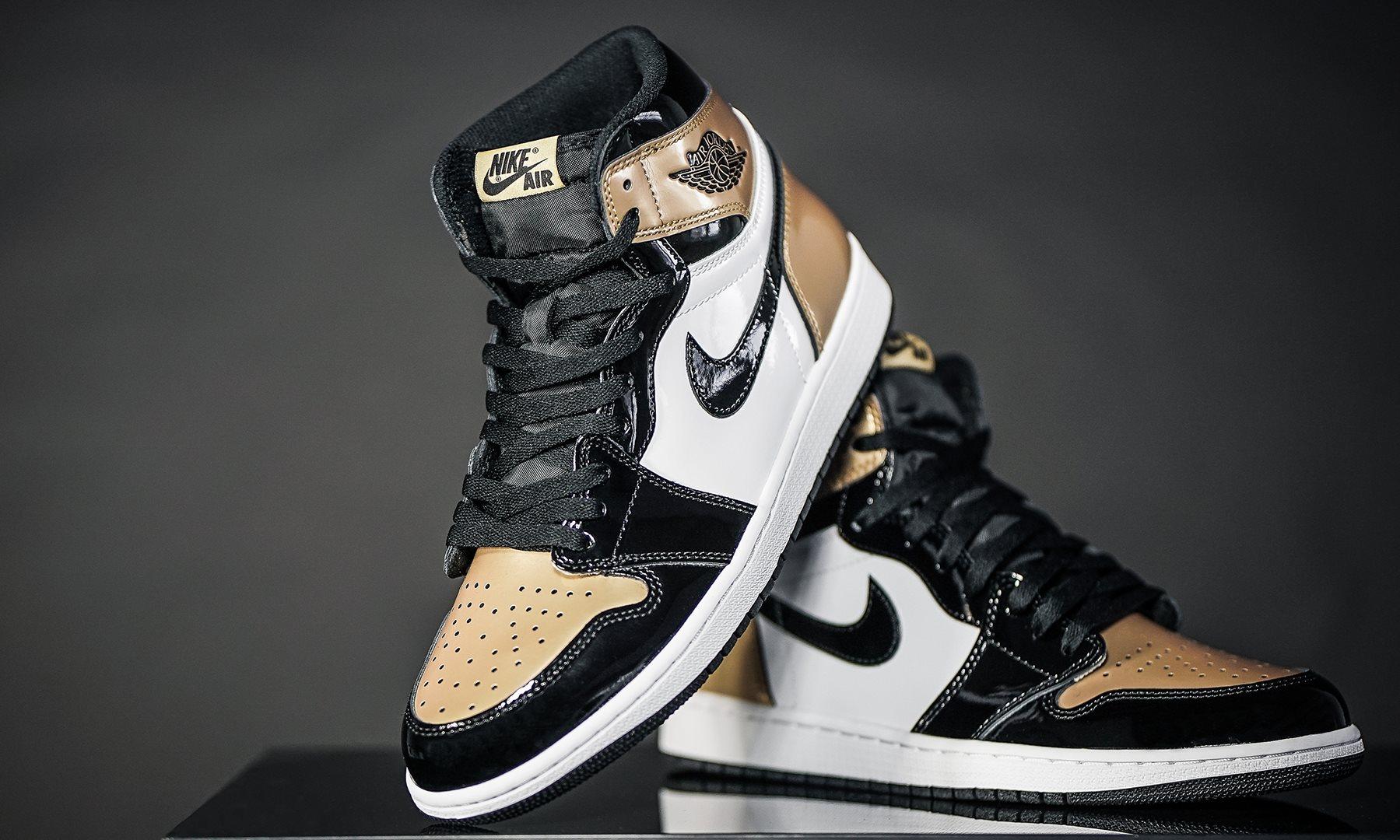 reputable site db018 f2e5a Air Jordan 1 Retro High OG Gold Toe • KicksOnFire.com