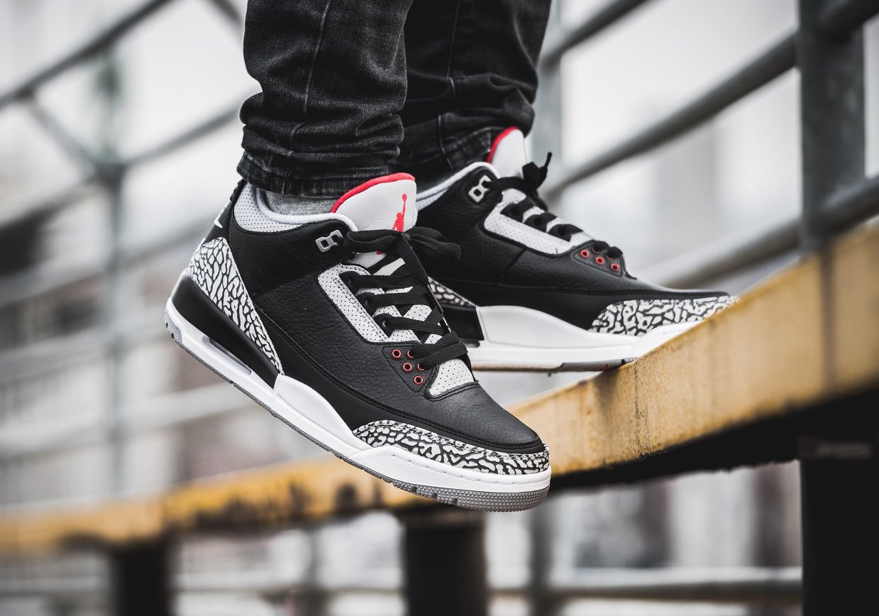 the best attitude 6fbd0 f2b83 Cop The Air Jordan 3 OG Retro Black Cement (2018) This ...