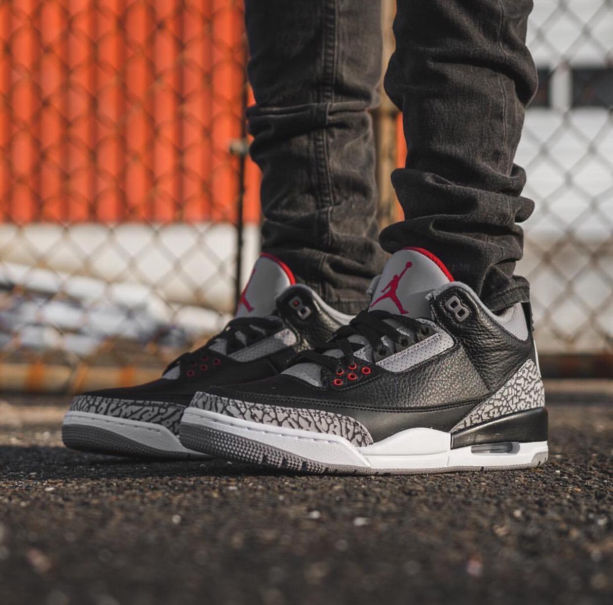 Here's How The Air Jordan 3 Retro OG Black Cement Looks On ...