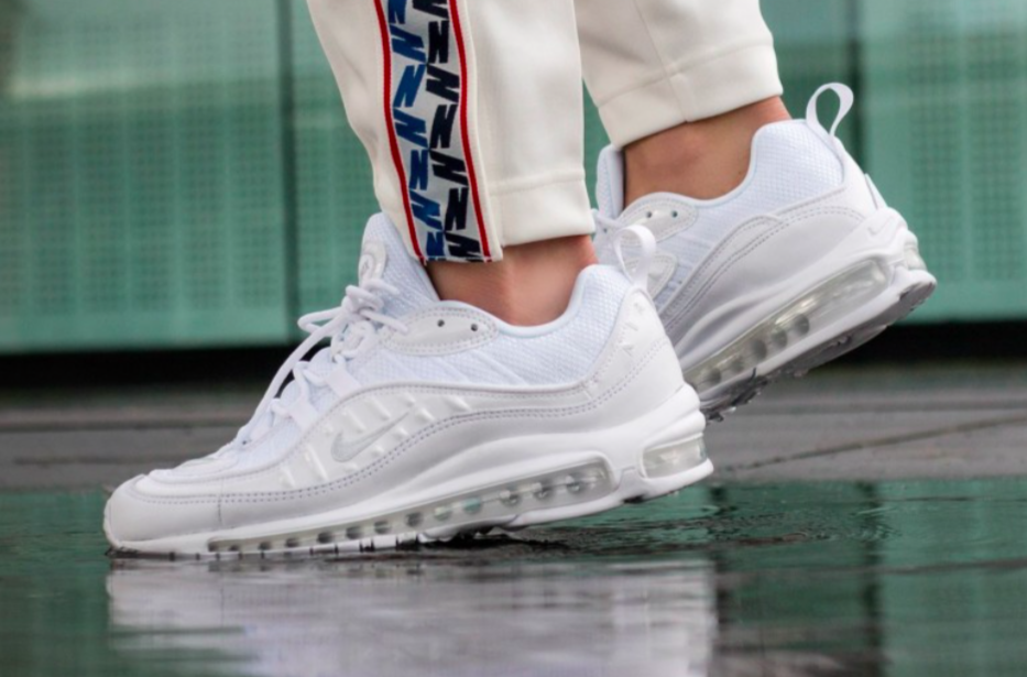 separation shoes b8267 a5bba Nike Air Max 98 Triple White Releasing Overseas Next Week ...