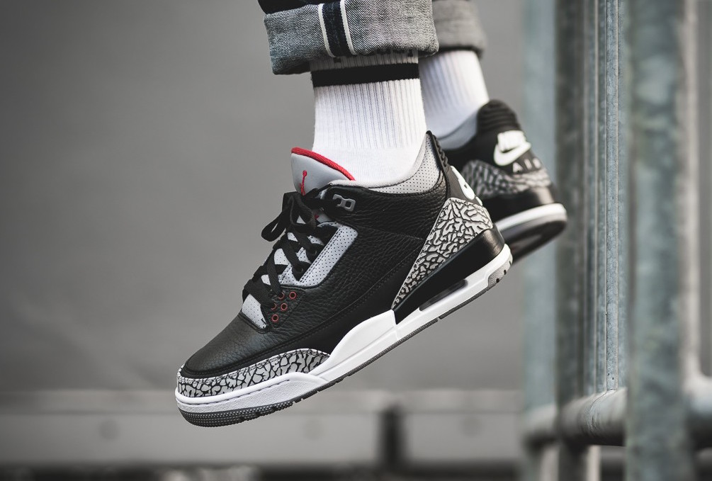 best website 47050 491ec Release Reminder: Air Jordan 3 OG Retro Black Cement (2018 ...