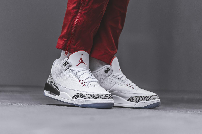 Air Jordan 3 White Cement NRG (Free Throw Line) • KicksOnFire.com