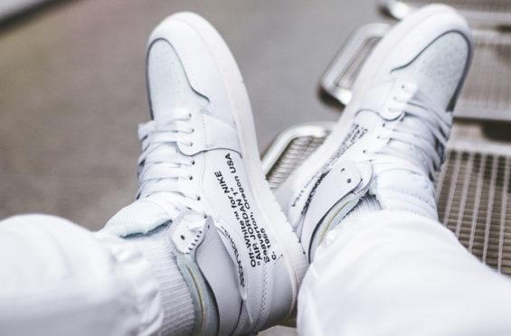 various colors a8796 f58e1 OFF-WHITE x Air Jordan 1 White • KicksOnFire.com