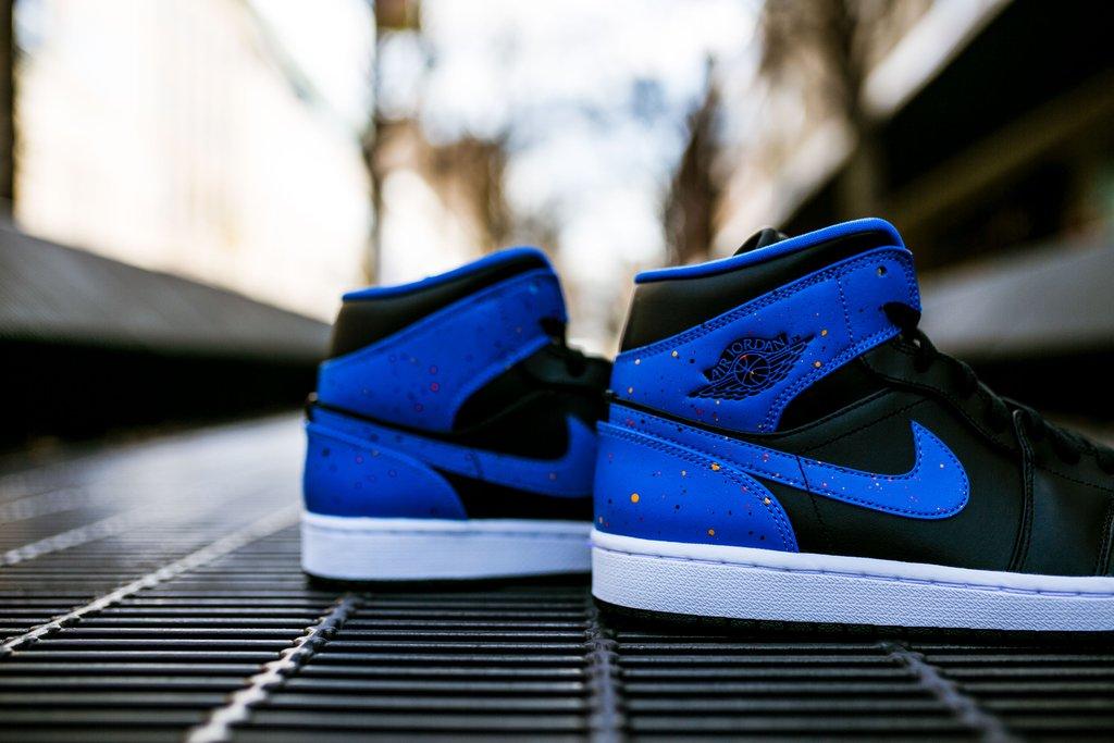 black blue and orange jordans