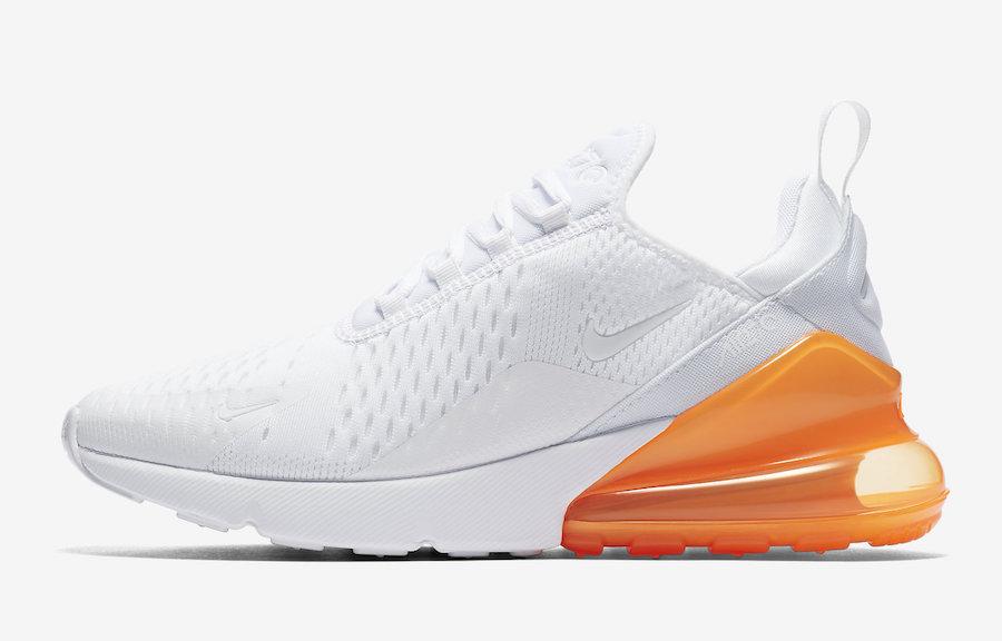 sale retailer e49ec 5f9e0 Release Date: Nike Air Max 270 White Total Orange ...