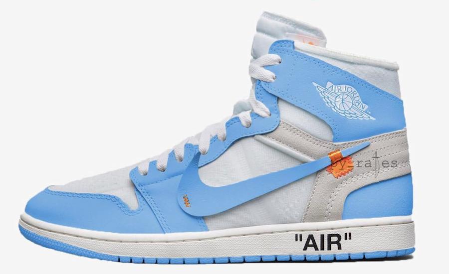 OFF-WHITE x Air Jordan 1 Powder Blue (UNC) • KicksOnFire.com