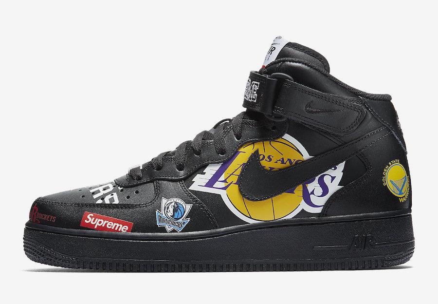 Supreme X Nike Air Force 1 Mid 07 Collection Kicksonfire Com