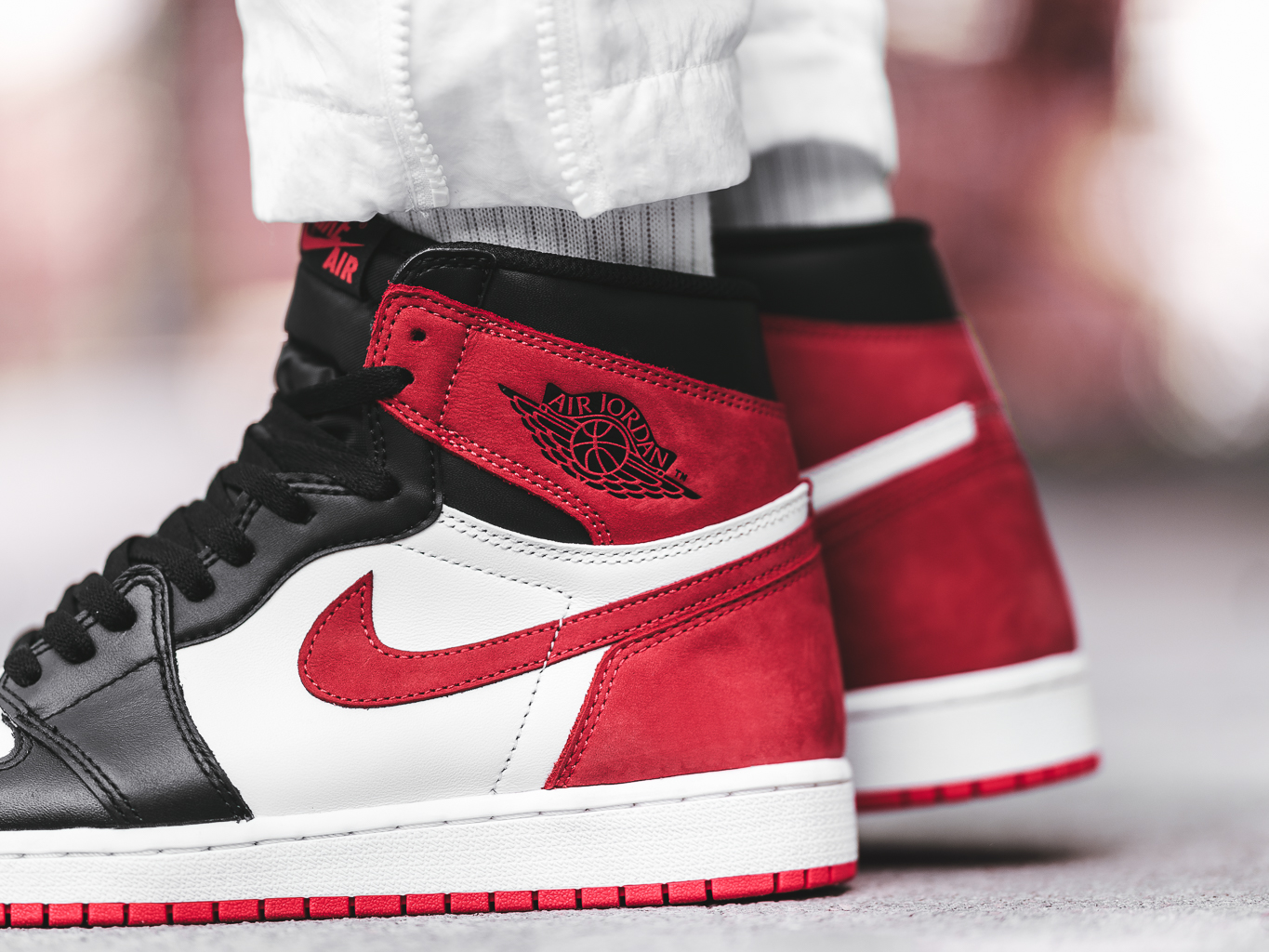 reputable site 1796a 012a2 An On-Feet Look At The Air Jordan 1 Retro High OG Track Red ...