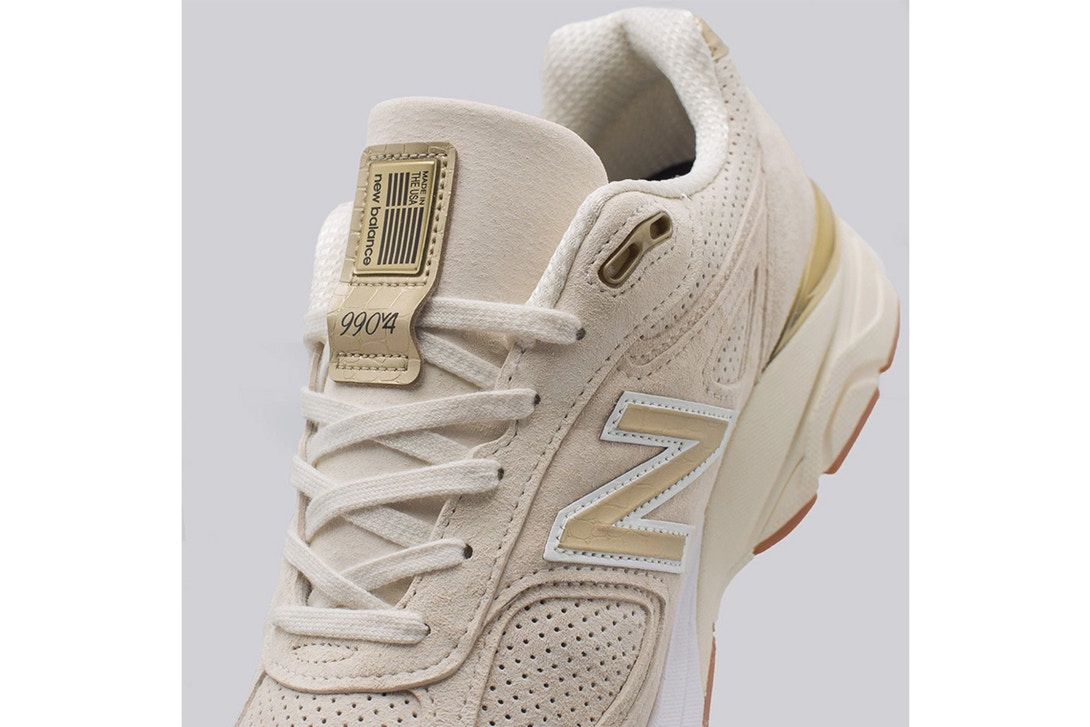 hot sale online d7b81 3b87b The Luxe Looking New Balance 990V4 Off-White Is Now ...