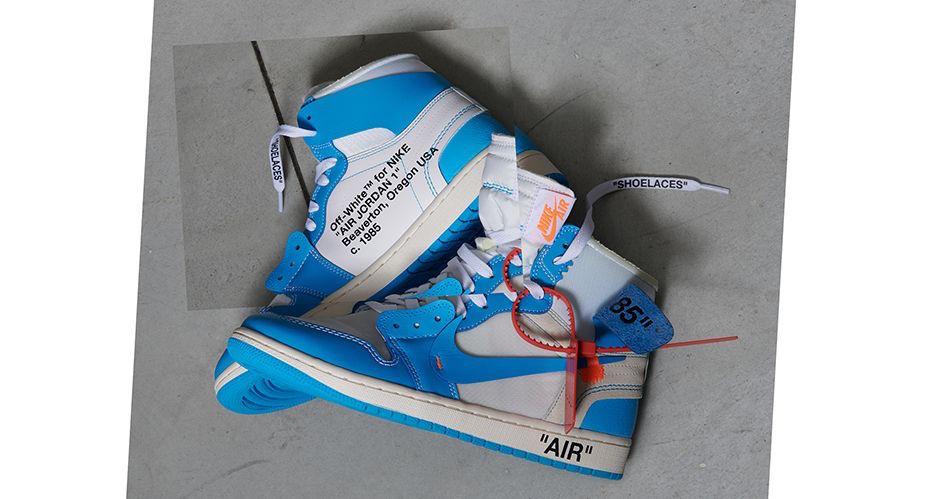 sneakers for cheap super quality best wholesaler Official Images: OFF-WHITE x Air Jordan 1 Powder Blue (UNC ...