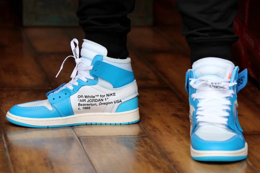 huge selection of f4206 16c26 OFF-WHITE x Air Jordan 1 Powder Blue (UNC) • KicksOnFire.com